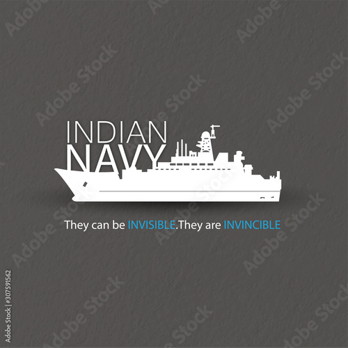 Canvas-taulu Indian navy day poster, banner
