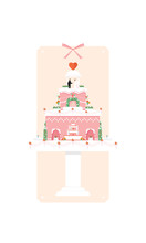 Wedding Cake With Couple Illus...