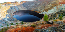 Open Pit Mine With Water
