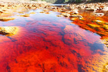 Red Water In Rio Tinto, Huelva...