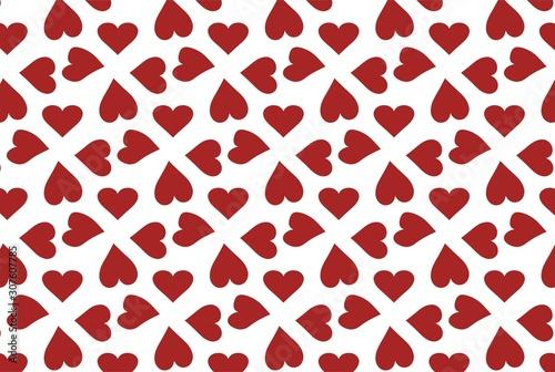 Fotografia 赤いハートのシームレスパターン壁紙
