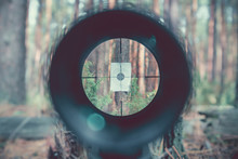 Sniper Gun Scope View, Target