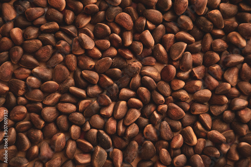 brown pine nuts background