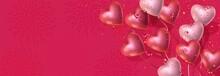 Happy Valentines Day Banner, 3...