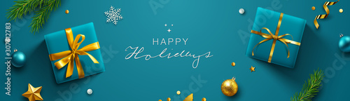 Holiday Banner. Vector Illustration. - 307612783