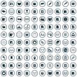 Leinwandbild Motiv 100 books icons