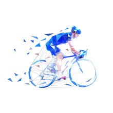 Cyclist. Road Cycling Low Poly...