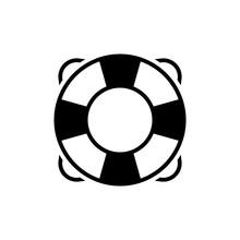 Lifering Vector Glyph Icon. Pixel Perfect
