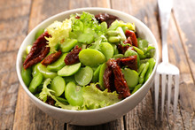 Vegetable Salad With Broad Bean And Dry Tomato