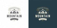 Forest Camping Logo Emblem Vec...