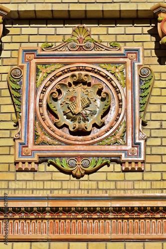 Zsolnay Keramik Details am Olof Palme Haus in Budapest Canvas Print