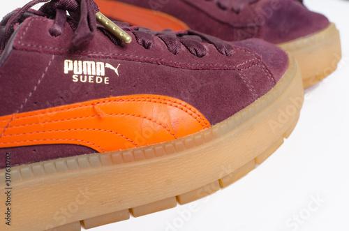 modern twist, puma sneakers