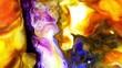 Liquid Colorful Paint pattens mix in slow motion. Liquid color paint patterns texture top view. Multicolor liquid paint surface.