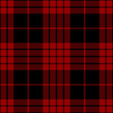 Tartan Red And Black Seamless Pattern.
