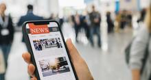 Online News On A Mobile Smartp...