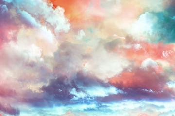 beautiful fantasy  winter cloudscape background