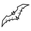 Bat Icon Vector Simple Design