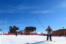 Station De Ski Avec De La Neig...