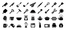 Kitchen Utensils And Tool Icon...