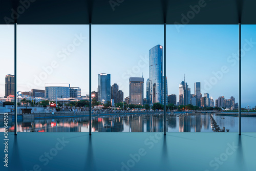Manhattan office city view Canvas Print
