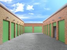 Storage Outdoor With Open Door...