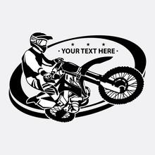 Simple Motocross Logo Design