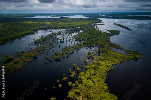 Photo The mouth of the Jaú River is within the Jaú National Park and houses great biodiversity of the Amazon biome