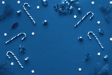 Monochrome Blue Color Xmas Bac...