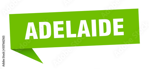 Adelaide sticker. Green Adelaide signpost pointer sign Canvas Print