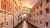 view of famous Bridge of Sighs (Ponte dei Sospiri) in Venice, Italy