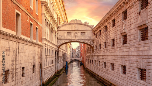 Fototapeta view of famous Bridge of Sighs (Ponte dei Sospiri) in Venice, Italy obraz