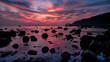 canvas print picture - Tioman Sonnenuntergang