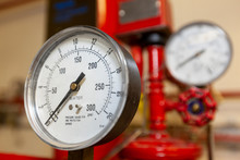 Water Pressure Gauge For An Industrial Fire System