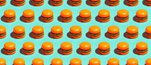 Minimal Seamless Pattern Burger Fast Food Concept