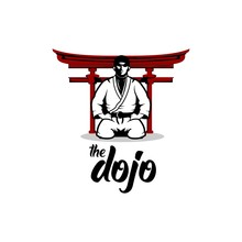 The Dojo Logo Design Illustration
