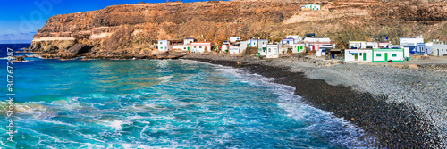 Fuerteventura - unspoiled beach and traditional fishing village Puertito de Molinos. Canary islands