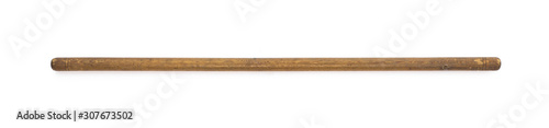 Canvastavla vintage wooden crutch for walking isolated on a white background