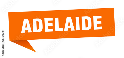 Adelaide sticker. Orange Adelaide signpost pointer sign Wallpaper Mural