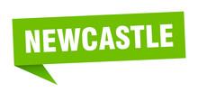 Newcastle Sticker. Green Newca...