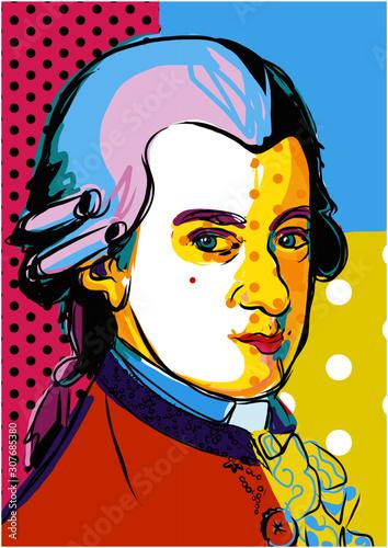 Fotografía classic musician Mozart