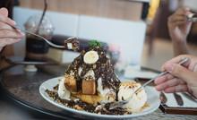 Selective Focus Ice Cream Cake...