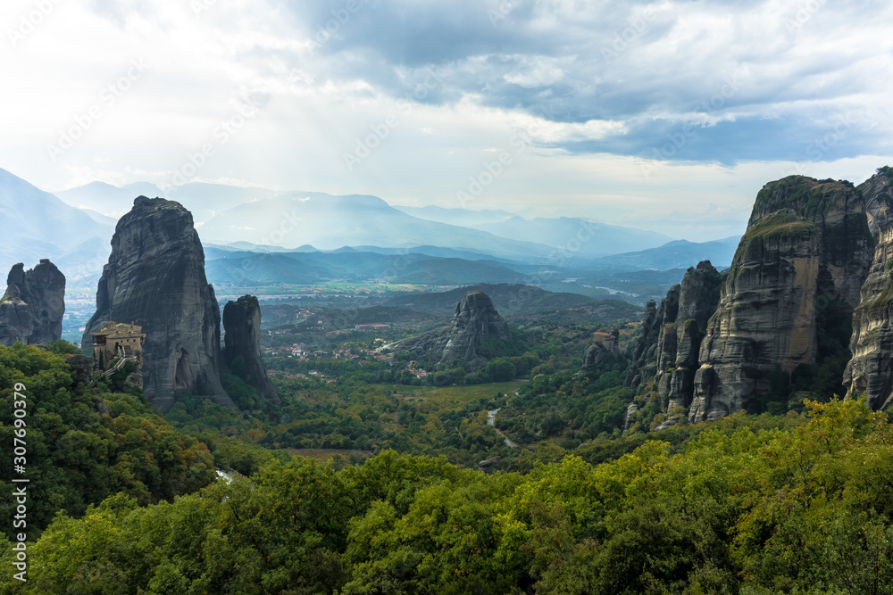 view of the canyon in meteora