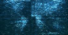 Abstract Digital Network Data ...