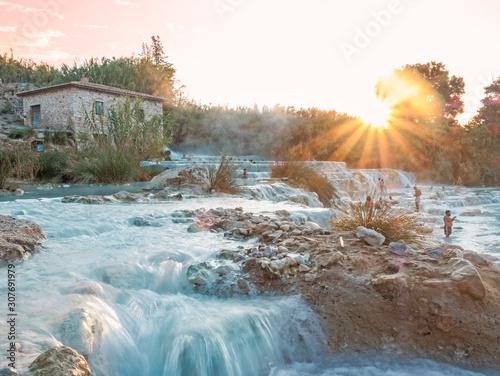 Saturnia, sulphur springs in Italy Fotobehang