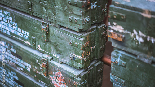 Photo  Military Ammo Crate Storage Chest