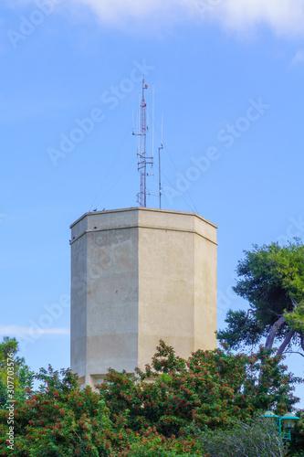 Valokuvatapetti Historic water tower, in the Carmel Center, Haifa