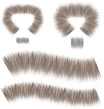 Straight Fur Brush Colorable Flat Fashion Design