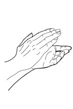 Cartoon Clapping Hand Drawing...