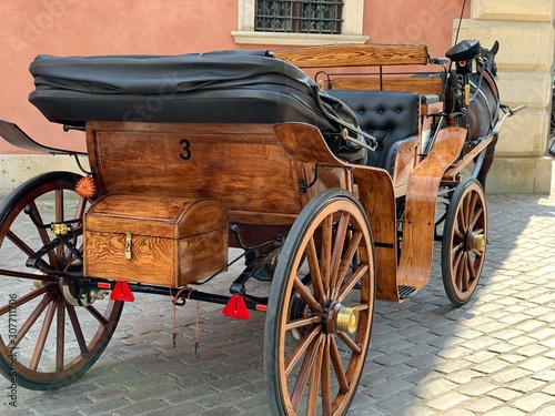 Canvas Print horse and carriage