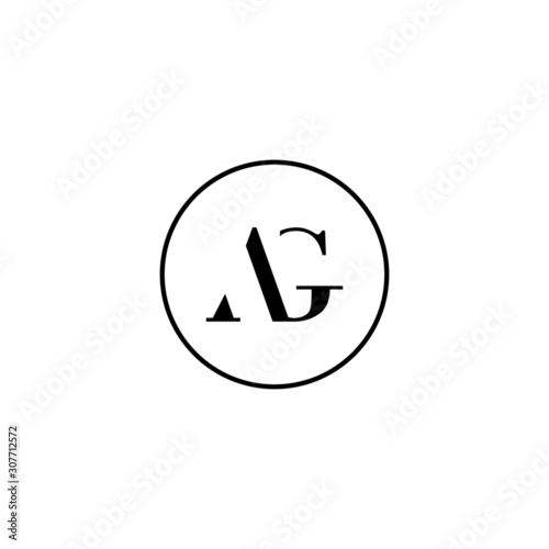 Letter AG initial monogram logo design, wedding, fashion, make up logo template Wallpaper Mural